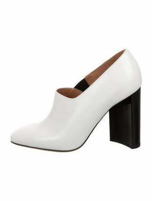 Maison Margiela Leather Round-Toe Pumps w/ Tags White