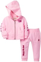 True Religion Hoodie & Pant Set (Baby Girls)