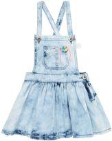 Billieblush Polka Dot Printed Chambray Overall Dress