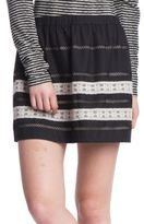 Plenty by Tracy Reese Cotton Blend Lace Applique Skirt