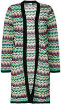 M Missoni cardigan long à motif zig