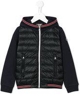 Moncler panelled padded jacket - kids - Cotton/Polyamide/Goose Down - 4 yrs