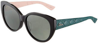Christian Dior Lady 1 Oversized Cat-Eye Sunglasses