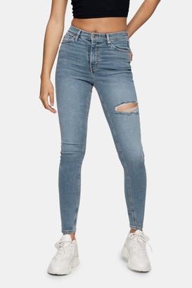 Topshop Bleach Stone Jamie Skinny Jeans