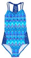 Gossip Girl Girl's Kaleidoscope One-Piece Swimsuit