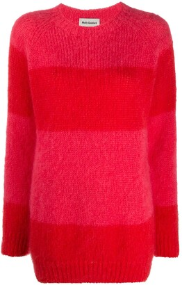 Molly Goddard Noah striped rib-trimmed jumper