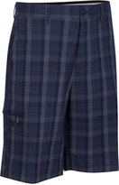 Greg Norman for Tasso Elba Big & Tall Tech Plaid Golf Shorts