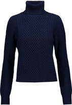 Equipment Atticus cable-knit wool and cashmere-blend turtleneck sweater