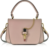 Giancarlo Petriglia Powder Pink Leather Mini Queen Bag w/Lipstick