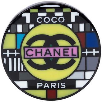 One Kings Lane Vintage Chanel Lucite Television Brooch - Vintage Lux