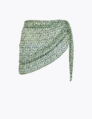 Marks and Spencer Mini Leaf Ruffle Beach Cover Up Sarong