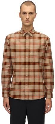 Burberry Slim Check Stretch Cotton Poplin Shirt
