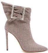 Alexandre Vauthier - Yasmine Crystal-embellished Houndstooth Boots - Multi