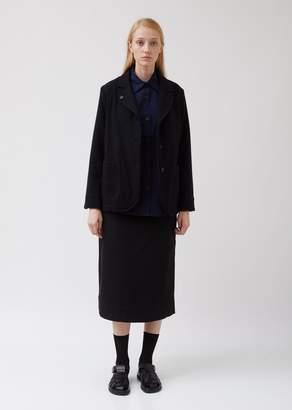 Mhl By Margaret Howell Asymmetric Collared Wool Blazer