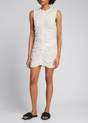 SIR the Label Alina Ruched Linen Mini Dress