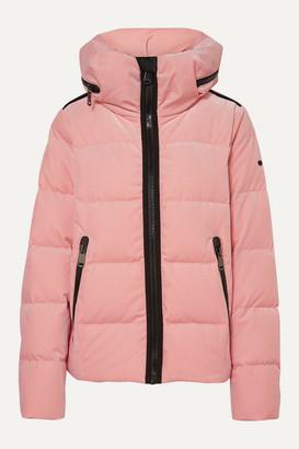 Goldbergh Emmelina Hooded Quilted Velvet Down Ski Jacket - Baby pink