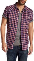 Lucky Brand San Gabriel Plaid Short Sleeve Regular Fit Shirt