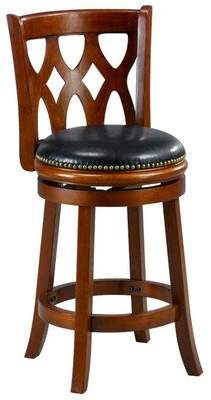 "Klara 24"" Bar Stool Cushion Winston Porter Finish: Cherry"