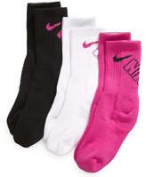 Nike Socks, Little Girls 3-Pack Crew Socks