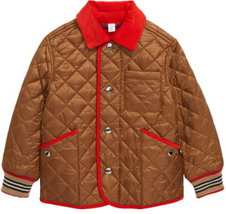 Burberry Culford Icon Stripe Trim Diamond Quilted Jacket