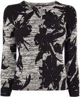 Karen Millen Floral Knit Cardigan - Grey/multi