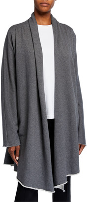 Frank And Eileen Draped Open-Front Coat