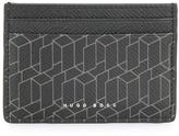 HUGO BOSS graphic print cardholder - men - Leather - One Size