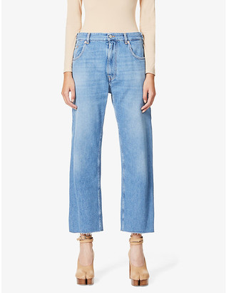 MM6 MAISON MARGIELA Raw hem wide-leg high-rise jeans