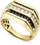 Macy's Men's White and Black Diamond (1 ct. t.w.) Ring