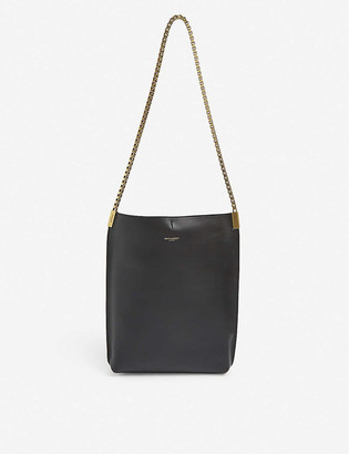 Saint Laurent Chain-strap small leather hobo bag