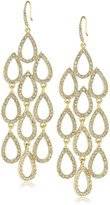 "ABS by Allen Schwartz Pave Beach"" -Tone Pave Chandelier Earrings"