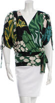 M Missoni Printed Surplice Top w/ Tags