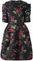 Comme des Garcons rose print full dress - women - Silk/Polyester - S