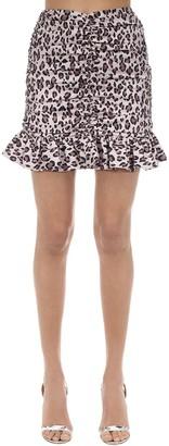 MARIANNA SENCHINA Draped Taffeta Mini Skirt
