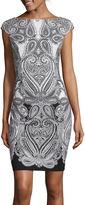 Liz Claiborne Cap-Sleeve Paisley Sheath Dress