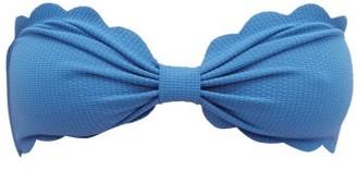 Marysia Swim Antibes Scallop-edged Bandeau Bikini Top - Womens - Blue