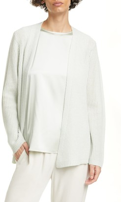 Eileen Fisher Ribbed Knit Cashmere Cardigan