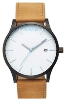 Men's Mvmt Leather Strap Watch, 45Mm