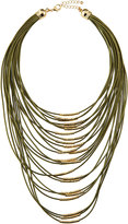 Fragments for Neiman Marcus Multi-Strand Cord Statement Necklace, Olive