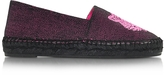 Kenzo Neon Pink Canvas Mix Tiger Espadrilles