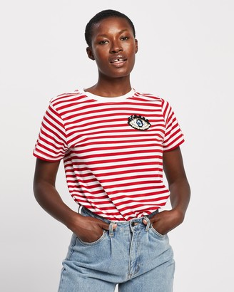 Elvie & Leo - Women's Red Printed T-Shirts - The Wink T-Shirt - Size One Size, XXS at The Iconic