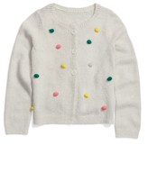 Tucker + Tate Toddler Girl's Bobble Pompom Polka Dot Cardigan