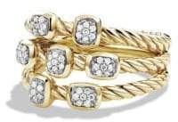 David Yurman Confetti Ring with Diamonds in Gold