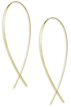 Lana 14K Yellow Gold Large Wide Upside Down Hoop Earrings