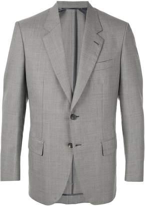 Brioni grid pattern blazer