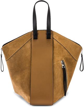 Loewe Hammock Tote Bag in Oak & Dark Gold | FWRD