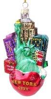 Kurt Adler C4108 New York City Glass Cityscape Ornament, 5-Inch