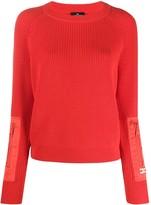 Elisabetta Franchi long-sleeve fitted jumper