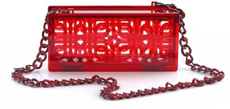 Vitro Atelier Neptune Clutch In Fiery Red