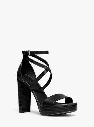 MICHAEL Michael Kors Charlize Leather Platform Sandal